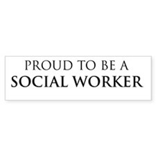 Proud Social Worker Bumper Bumper Sticker