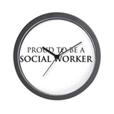 Proud Social Worker Wall Clock