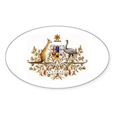 Australian Coat of Arms Oval Stickers