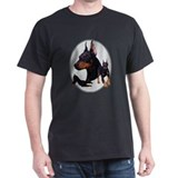 Three Dobes Black T-Shirt