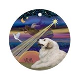 Great Pyrenees & Christmas Star Ornament (Round)