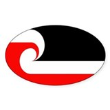 Maori Flag Oval Sticker (50 pk)