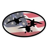 American Ducks Oval Sticker (10 pk)