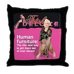 Human Furniture Throw Pillow