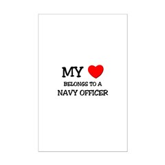 My Heart Belongs To A NAVY OFFICER Posters