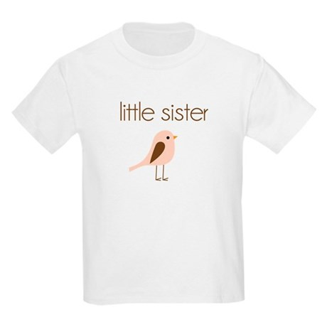 little sister t-shirt birdie modern Kids Light T-S