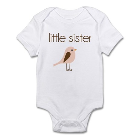 little sister t-shirt birdie modern Infant Bodysui