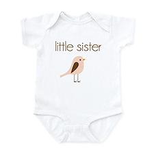 little sister t-shirt birdie modern Onesie