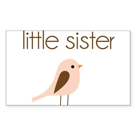 little sister t-shirt birdie modern Sticker (Recta