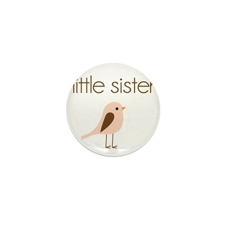 little sister t-shirt birdie modern Mini Button