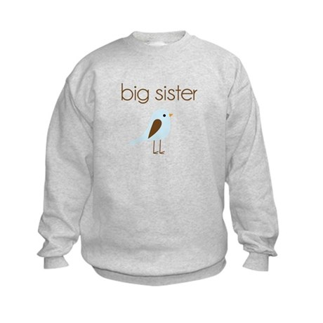 mod big sister t-shirt birdie Kids Sweatshirt