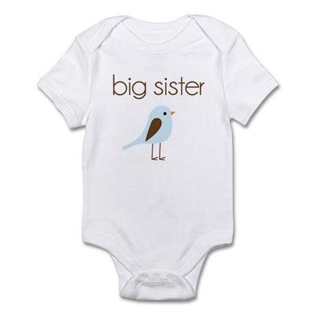 mod big sister t-shirt birdie Infant Bodysuit