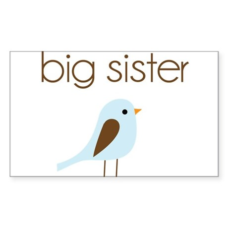 mod big sister t-shirt birdie Rectangle Sticker