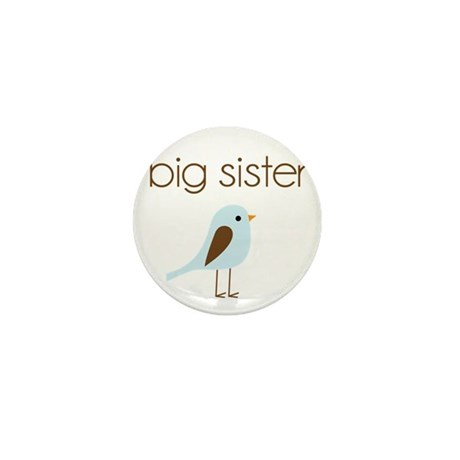 mod big sister t-shirt birdie Mini Button