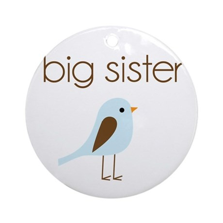 mod big sister t-shirt birdie Ornament (Round)