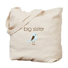 mod big sister t-shirt birdie Tote Bag