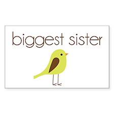 mod biggest sister t-shirt birdie Decal