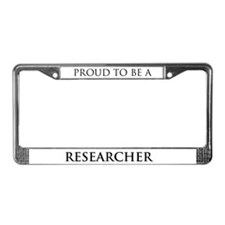 Proud Researcher License Plate Frame