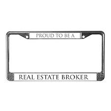 Proud Real Estate Broker License Plate Frame