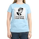Icelandic Sheepdog Women's Pink T-Shirt