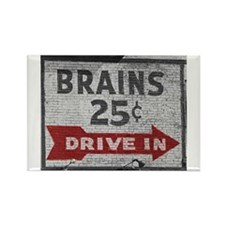 Brains 25 Cents Rectangle Magnet