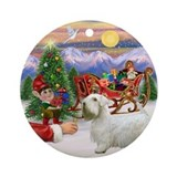 Santa's Treat for his Sealyham Ornament (Round)