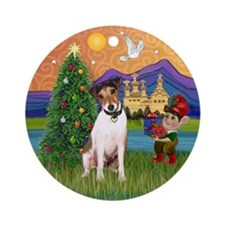 Jack Russell Christmas Fantasy Ornament (Round)