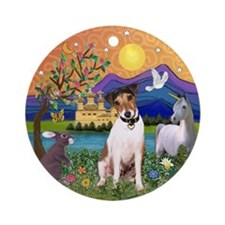 Jack Russell in Fantasy Land Ornament (Round)