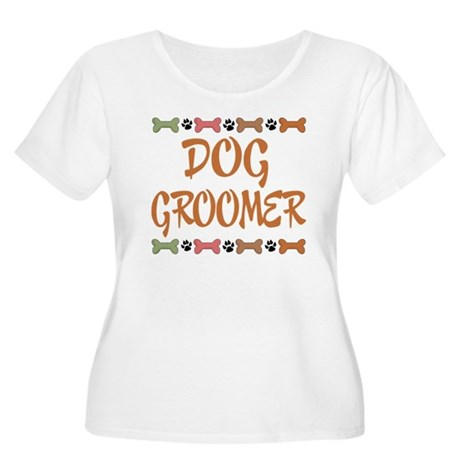 Cute Dog Groomer Women's Plus Size Scoop Neck T-Sh