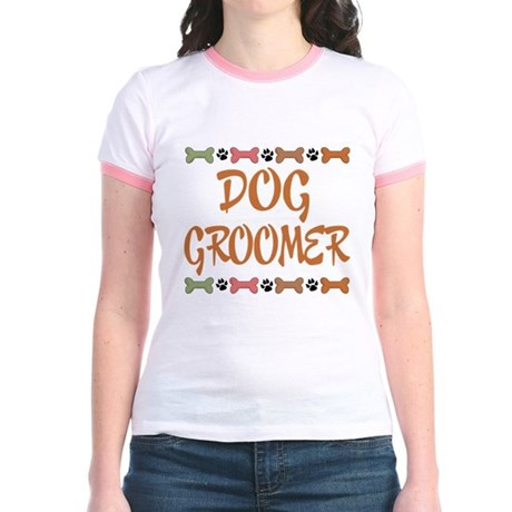 Cute Dog Groomer Jr. Ringer T-Shirt