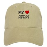 My Heart Belongs To A MIDWIVE Baseball Cap
