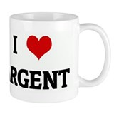 I Love ARGENT Small Mugs