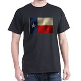 Texas State Flag Black T-Shirt