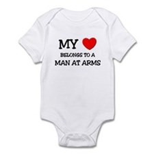 My Heart Belongs To A MAN AT ARMS Infant Bodysuit