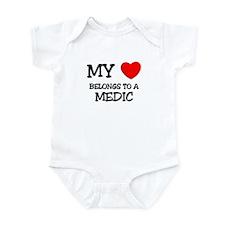 My Heart Belongs To A MEDIC Infant Bodysuit