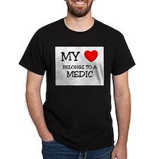 My Heart Belongs To A MEDIC T-Shirt