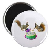 Squirrels Birthday Magnet