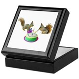 Squirrels Birthday Keepsake Box