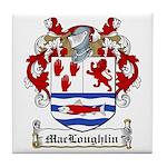 MacLoughlin Coat of Arms Tile Coaster