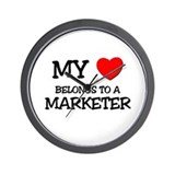 My Heart Belongs To A MARKETER Wall Clock