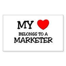 My Heart Belongs To A MARKETER Rectangle Decal
