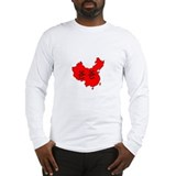 Daddy in China Map Long Sleeve T-Shirt