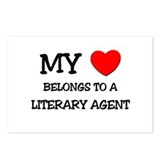 My Heart Belongs To A LITERARY AGENT Postcards (Pa