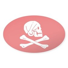 Henry Avery Jolly Roger Oval Sticker (10 pk)
