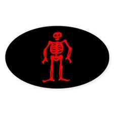 Edward Low Jolly Roger Oval Decal