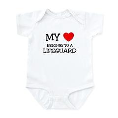My Heart Belongs To A LIFEGUARD Infant Bodysuit