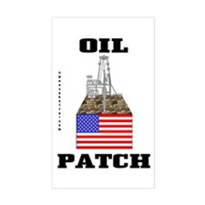 Oil Patch,US,USA Rectangle StickerOil,Rig