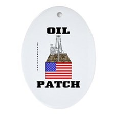 Oil Patch,US,USA Oval Ornament,Oil,Rig,