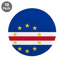 "Flag of Cape Verde 3.5"" Button (10 pack)"