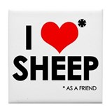 I Love* Sheep Tile Coaster